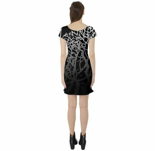 Back of Winter Branches Tunic Dress